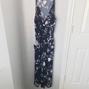 Floral Cropped Knit Jumpsuit